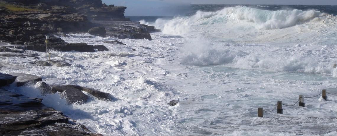 High seas at Mahon Pool, Maroubra, NSW, Australia