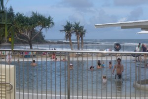 The Sir Francis Nicklin Testimonial Pool, Caloundra's Kings Beach, Queensland, Australia
